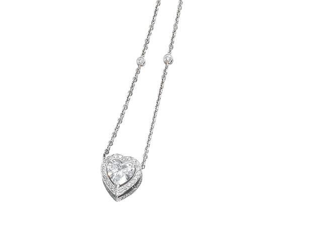 A diamond pendant/necklace, by Boodles