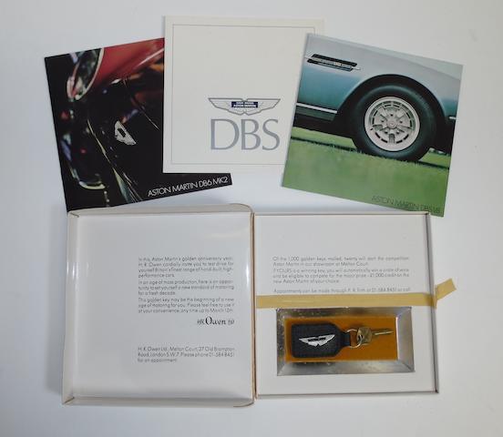An Aston Martin DBS 'Golden Key' promotional sales pack,
