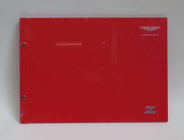 A large format Aston Martin Zagato deluxe bound sales brochure,