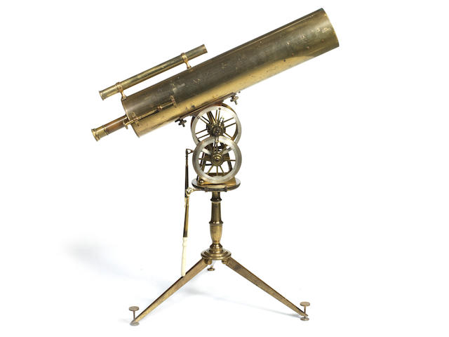 An important 5-Inch Gregorian reflecting telescope on stand, English, late 18th century,