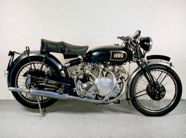 Property of a deceased's estate, c.1949 Vincent 998cc Series B Rapide Frame no. R3110 Engine no. F10AB/1/1735