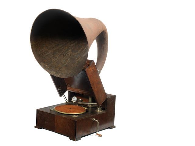 An EMG Mark X horn gramophone,