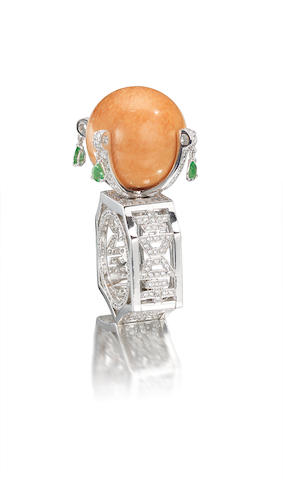 A melo pearl and diamond dress ring