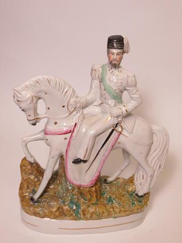 A Staffordshire figure of Sultan Abd-ul-Medjid, Sultan of Turkey 19th century