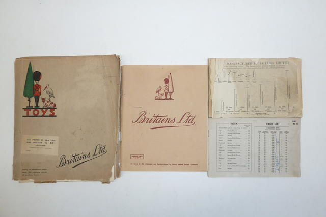 Britains original Catalogues, Artwork and Photographs etc. from the Selwyn-Smith Archive