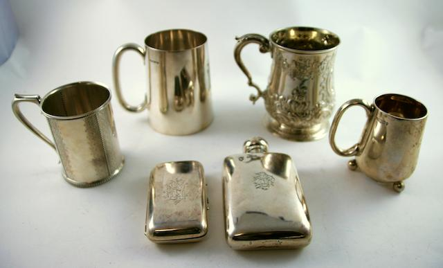 A George II silver presentation baluster mug by Henry Morris, London 1746 (6)