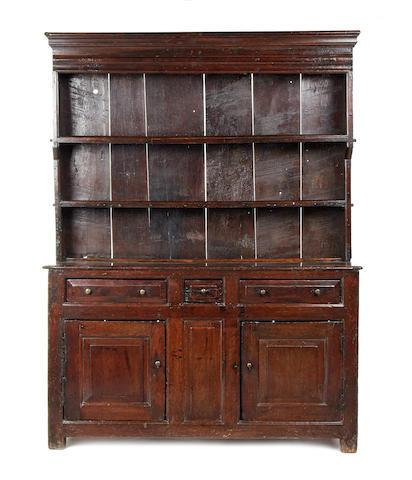 A George II oak high dresser, Caernarfonshire/Merionethshire, circa 1730-50