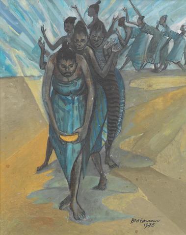 Benedict Chukwukadibia Enwonwu M.B.E (Nigerian, 1917-1994) Dancing Women