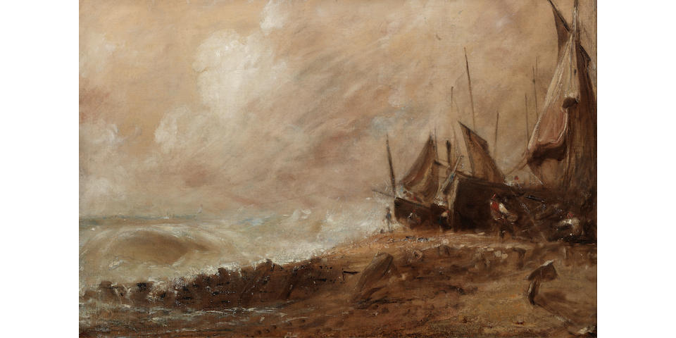 John Constable R.A. (Suffolk 1776-1837 Hampstead) A Sea Beach - Brighton
