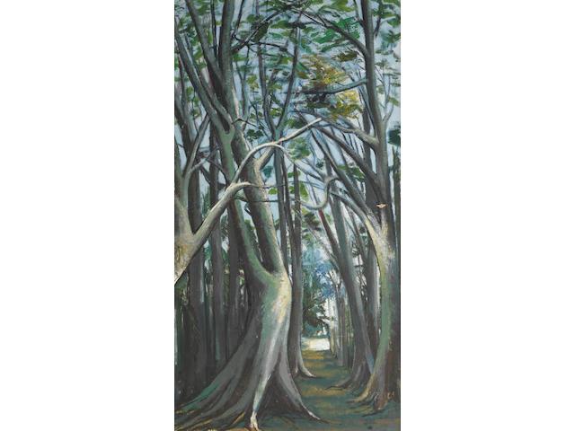 Benedict Chukwukadibia Enwonwu M.B.E (Nigerian, 1917-1994) Jungle Path