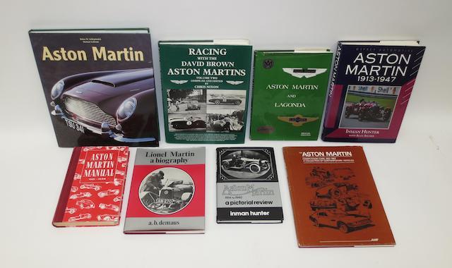 Eight Aston Martin books,