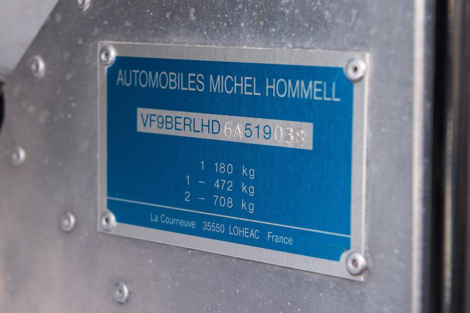 Road registered,1999 Hommel Vaillant 'Grand Défi' Coupé Chassis no. VF9BERLHD6A519038
