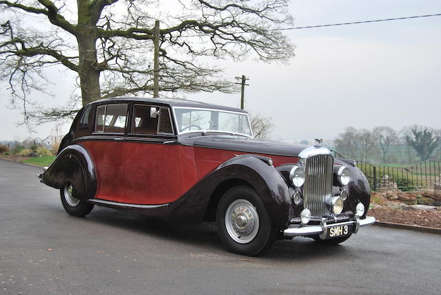 Multiple Concours-winning and unique,1947 Bentley MkVI 4¼-Litre Saloon   Chassis no. B80BH Engine no. B40B