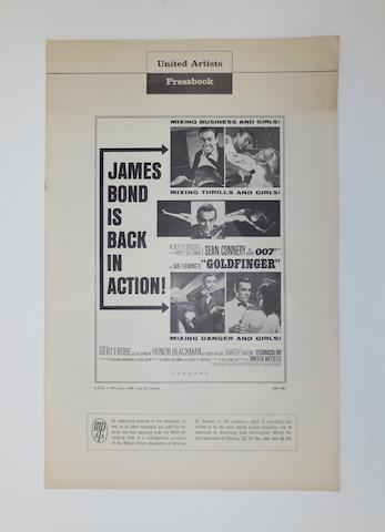 A 1965 United Artists James Bond 'Goldfinger' press catalogue,