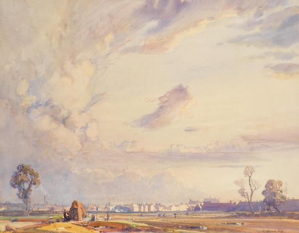 Samuel John Lamorna Birch RA, RWS, RWA (British, 1869-1955) A Manchester Playing Ground