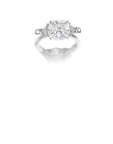 A fine diamond three-stone ring, by Van Cleef and Arpels