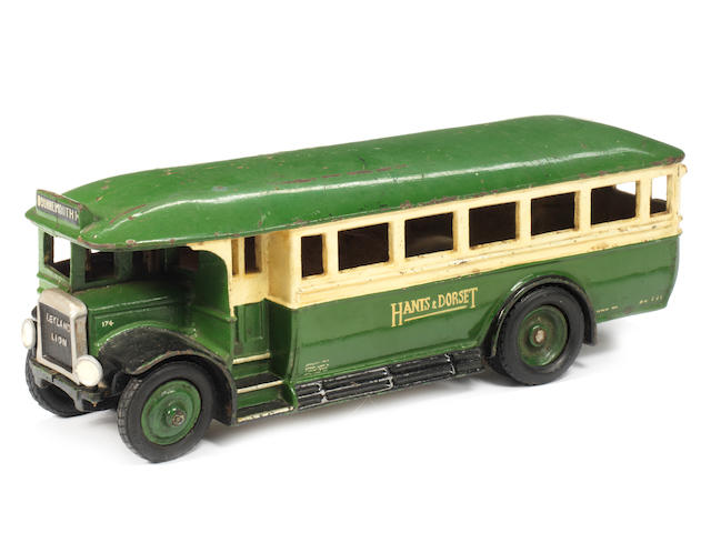 Cast iron Wallworks promotional model of a Leyland Lion Hants & Dorset single decker bus