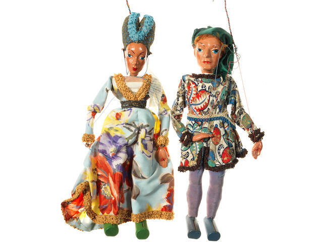 Pelham Puppets Historical series, Lady and Gentleman of Henry III court, circa 1950 2