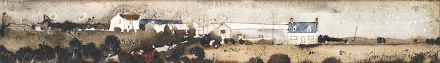 John Knapp-Fisher (British, born 1931) 'Barry Island farm buildings'