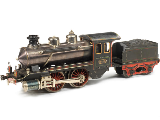Marklin gauge I R4021 live steam 0-4-0 locomotive and tender, circa 1904