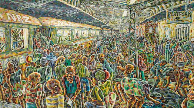 Lovemore Kambudzi (Zimbabwean, born 1978) 'Friday Night Train'