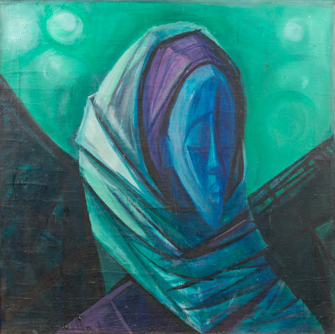 Yusuf Adebayo Cameron Grillo (Nigerian, born 1934) African Woman with Gele