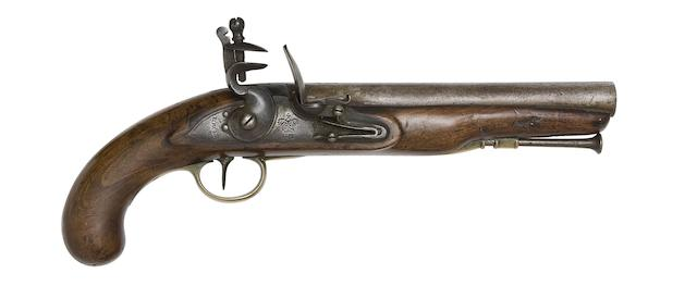 A 10-Bore 1796 Pattern Heavy Cavalry Flintlock Pistol