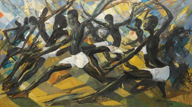 Benedict Chukwukadibia Enwonwu M.B.E (Nigerian, 1917-1994) 'Princes of Mali'