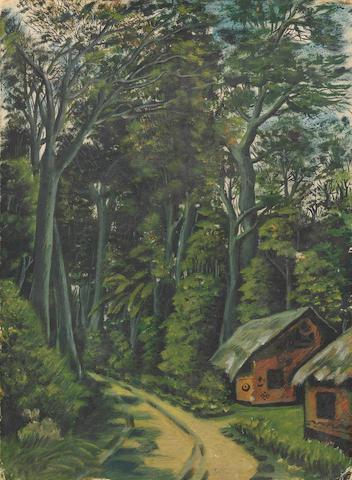 Benedict Chukwukadibia Enwonwu M.B.E (Nigerian, 1917-1994) 'A Forest Path'