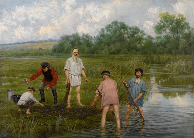 Narkiz Nikolaevich  Bunin (Russian, 1856-1912) Fishing