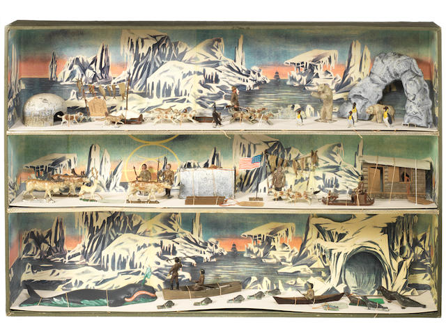Lucotte/Mignot RARE three-tier Dioramic Arctic Exploration Set 63