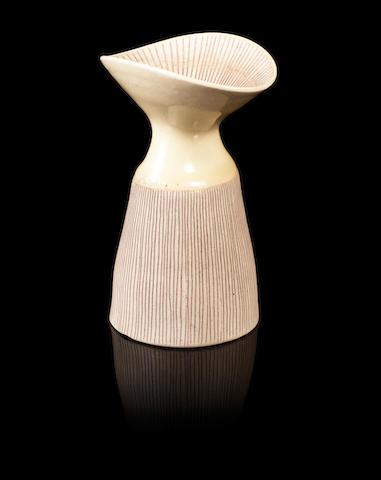 Dame Lucie Rie (Austrian, 1902-1995) An Oval Vase, circa 1960
