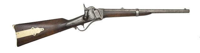 A Rare .577 Sharps 1855 Model British Breech-Loading Percussion Carbine