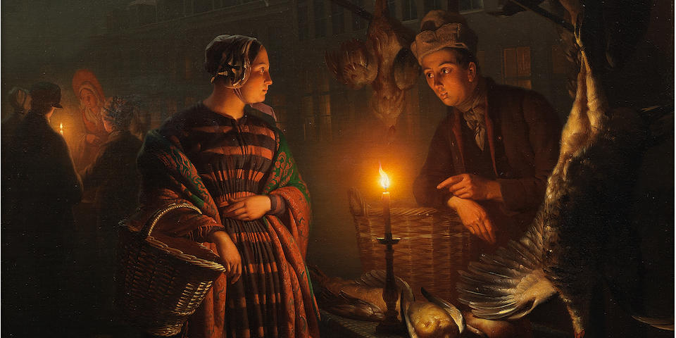 Petrus van Schendel (Belgian 1806-1870) The night market