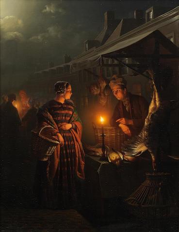 Petrus van Schendel (Belgian 1806-1870) The night market