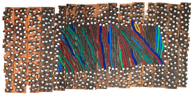 El Anatsui (Ghanaian, born 1944) 'Kente on Lace'