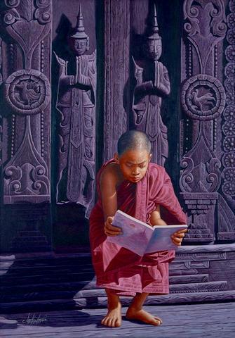 Aung Kyaw Htet (Burmese, b. 1965) Mandalay Monastery
