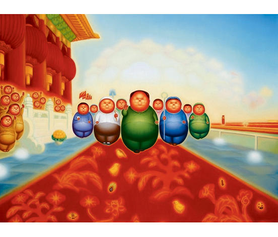 Pan Dehai (Chinese, b. 1956) The Red Era - Founding Ceremony