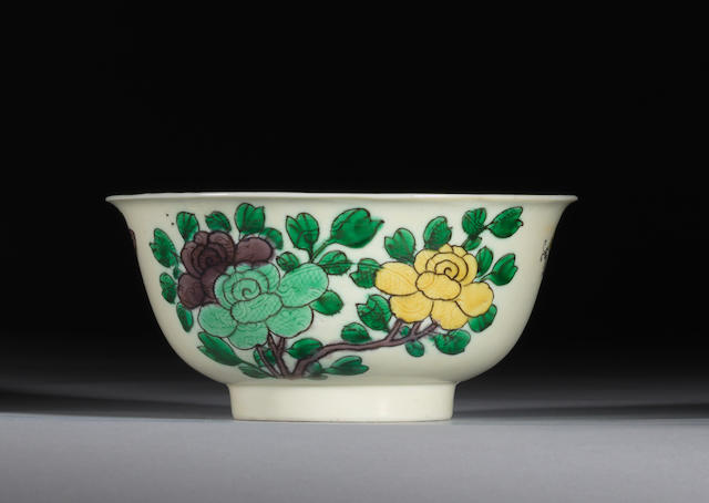 A famille verte incised susancai bowl Kangxi six-character mark and of the period