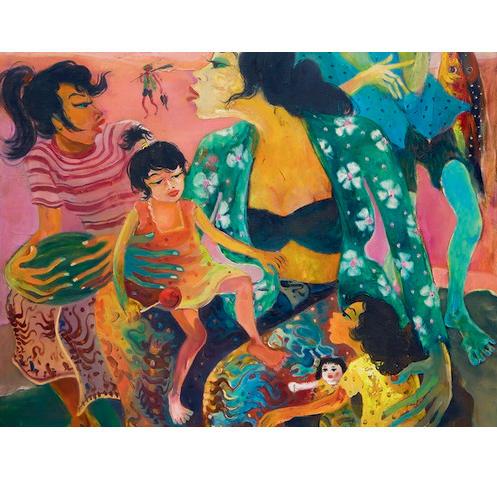Hendra Gunawan (Indonesia, 1918-1983) Ibu dan Anak-Anak