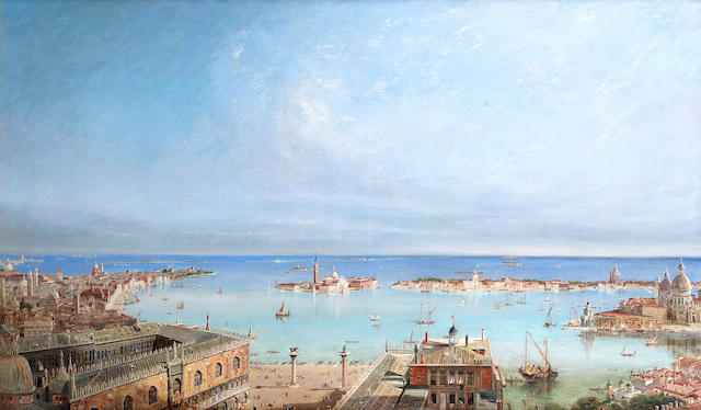 English School, 19th Century A panoramic view of Venice