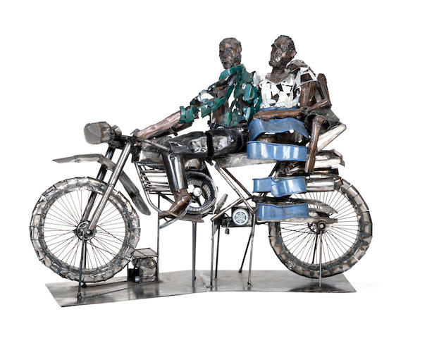 Sokari Douglas Camp (Nigerian, born 1958) Bike 2000 185 x 268 x 75cm (72 13/16 x 104 3/4 x 29 1/2in)