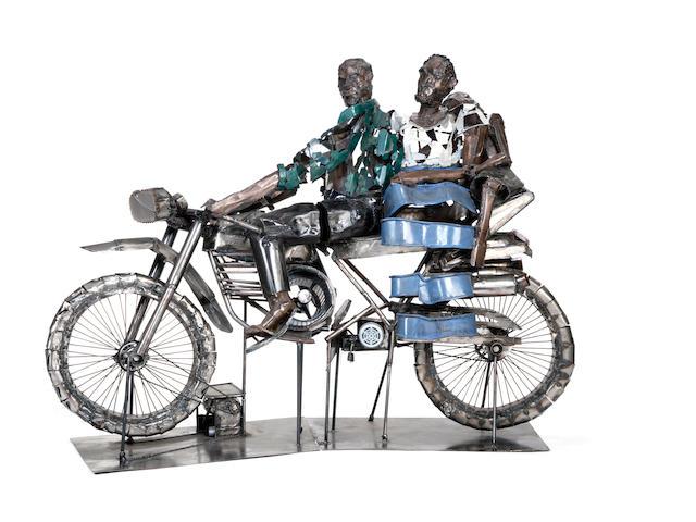 Sokari Douglas Camp (Nigerian, born 1958) Bike 2000 185 x 268 x 75cm (72 13/16 x 104 3/4 x 29 1/2in)