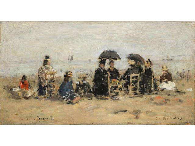 Eugène Boudin (French, 1824-1898) Trouville, scène de plage