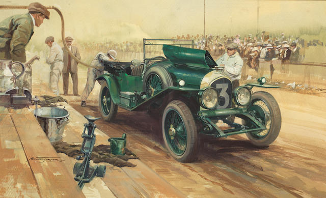 "Michael Turner (British, 1934-), 'Bentley ""Old No.7"" at Le Mans 1927',"