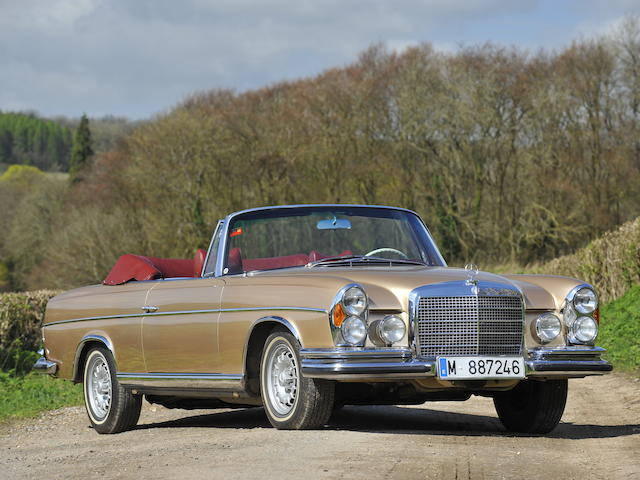 1970 Mercedes-Benz 280 SE 3.5 Cabriolet Chassis no. 111.027-12-003296 Engine no. 116.980-12-002922