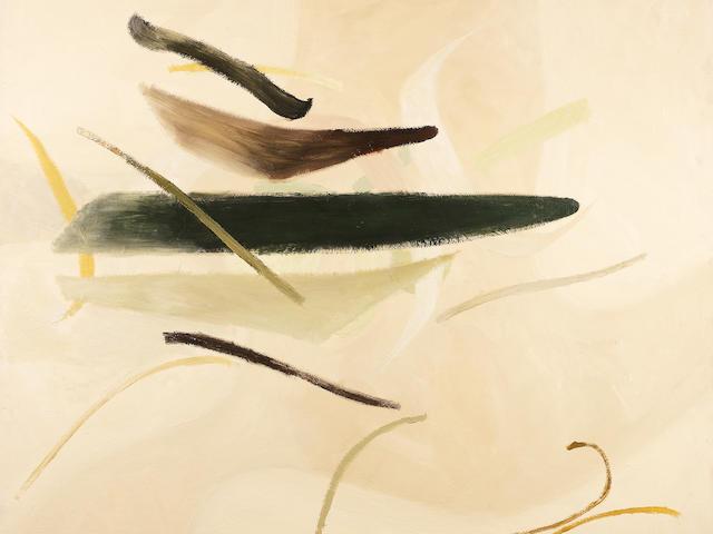 Alan Reynolds (British, born 1926) Image-Spring Larch 113.8 x 119.1 cm. (44 7/8 x 46 7/8 in.)