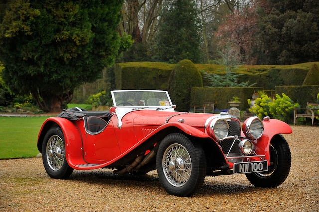 The ex-Norman Wisdom,1937 Jaguar 2½-Litre Roadster  Chassis no. 18064 Engine no. 252321