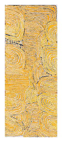 Walangkura Napanangka (born circa 1946) Untitled (Designs Associated with the Rockhole and Soakage Water Site of Marrapinti), 2004