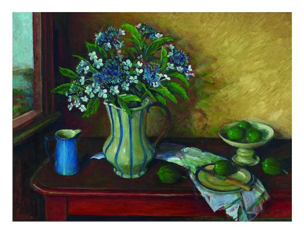 Margaret Olley (1923-2011) Still Life with Hydrangeas and Fruit, c.1999